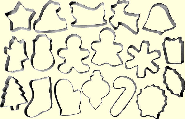 Cookie Cutters – Holiday Cookie Cutter Set | www ...