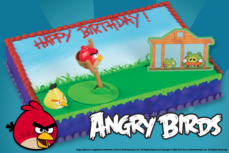 Angry birds cake kit for Angry birds cake decoration kit