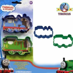 Wilton Thomas the train railroad template 2 piece cookie cutter set for childrens party celebrations